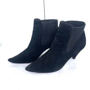 Alexander Wang Black Suede Ankle Heeled Boots